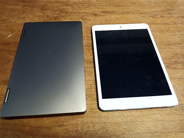 OneMix3ProプラチナエディションとiPad mini